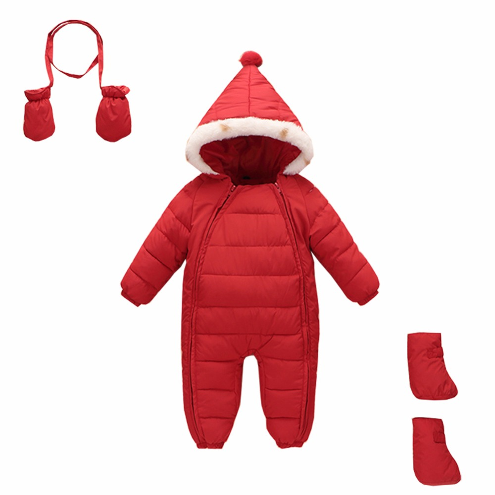 2016 hot sell winter baby boys girl snowsuit baby Rompers down coat clothes Warm Thickening wear winter  Long Sleeve outwear winter baby snowsuit baby boys girls rompers infant jumpsuit toddler hooded clothes thicken down coat outwear coverall snow wear