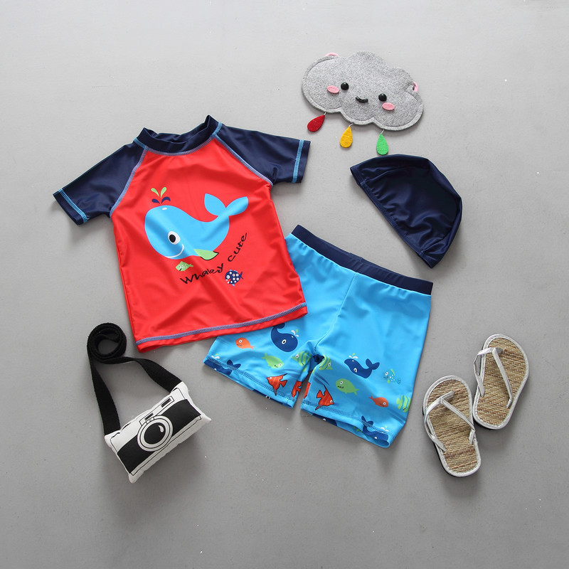 Children Swimsuit Boys Swimwear Kids Beach  Clothing Uv Protection Suit Infantil Baby Bathing Suit 12 Months 2 3 6 Years Old