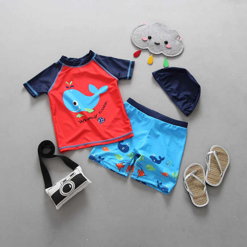 2bdd90ced5ec9 Detail Feedback Questions about Children Swimsuit Boys Swimwear Kids Beach  Clothing Uv Protection Suit Infantil Baby Bathing Suit 12 Months 2 3 6  Years Old ...