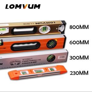Image 1 - LOMVUM عالية الدقة مستوى الكحول المغناطيسي عالية تحمل حاكم رافعة فقاعات Rustproof أفقي حاكم مستوى الكحول قارورة