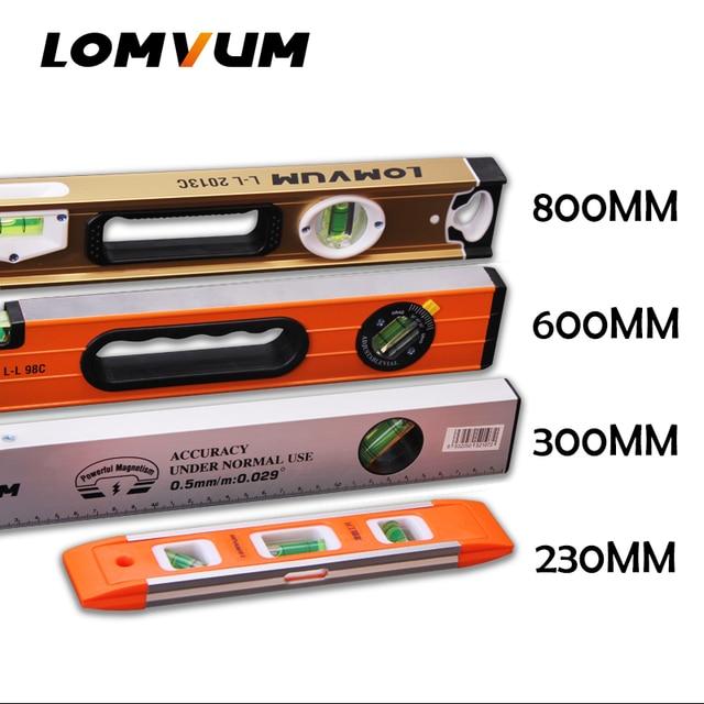 LOMVUM عالية الدقة مستوى الكحول المغناطيسي عالية تحمل حاكم رافعة فقاعات Rustproof أفقي حاكم مستوى الكحول قارورة