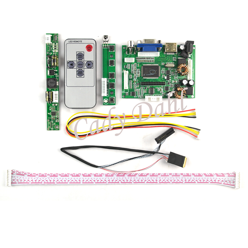 US $30 99 |HDMI VGA Audio LCD Controller Board+Backlight Inverter+30Pins  Cable + Remote for Ipad 2 1024X768 9 7
