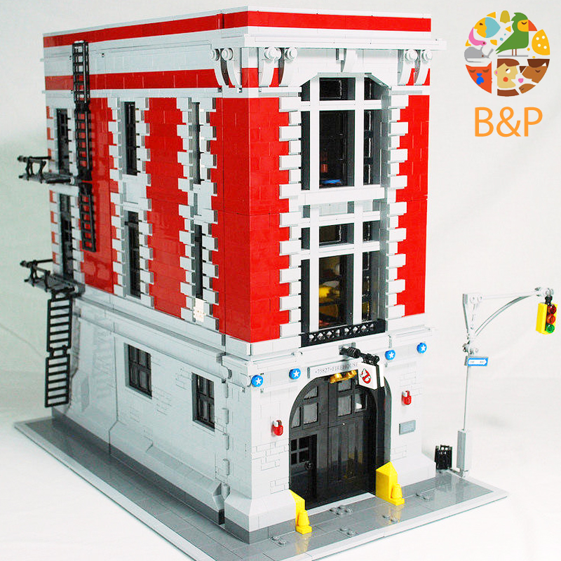 Legoing 16001 Lepin 4705Pcs Ghostbusters Firehouse Headquarters brinquedos Model set Building Kits Model Compatible 75827 4695pcs lepin 16001 city series firehouse headquarters house model building blocks compatible 75827 architecture toy to children