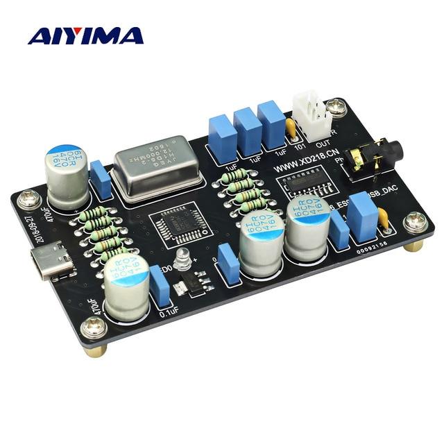 AIYIMA PCM2706 ES9023 USB аудио ЦАП звук дешифровщик карт доска HI-FI Zero Шум I2S декодирования