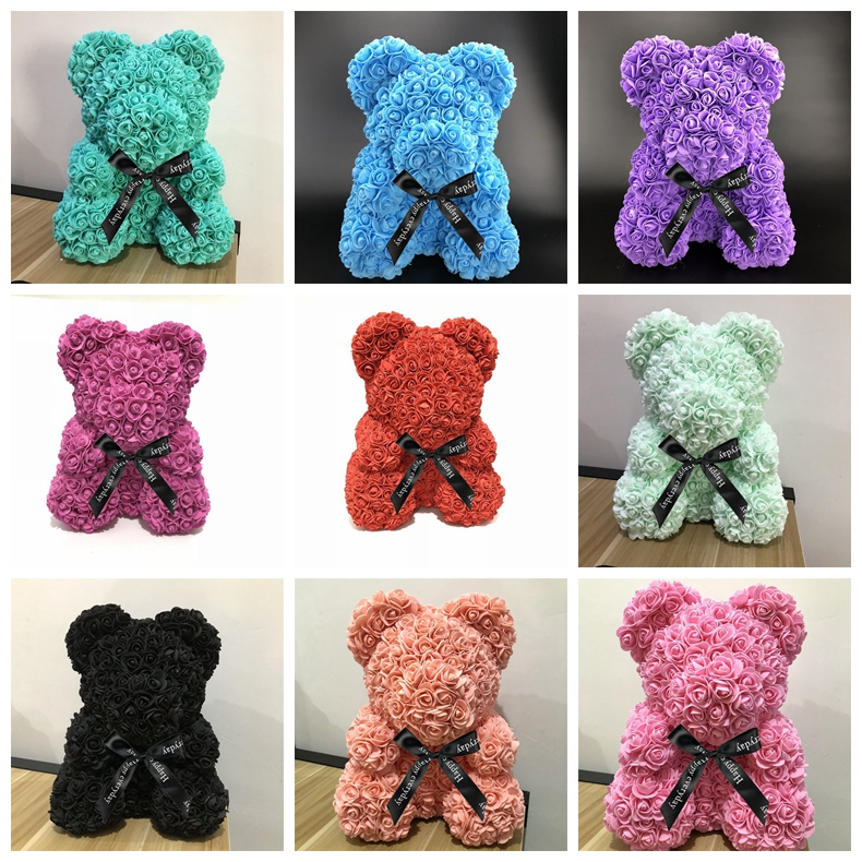 Aliexpress Com Buy Home Utility Gift Birthday Gift Girlfriend Gifts Diy From Reliable Gift Diy: Aliexpress.com : Buy 40cm Rose Bear Multicolor 2018