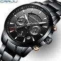 Часы CRRJU мужские  спортивные  кварцевые  водонепроницаемые  со стальным ремешком