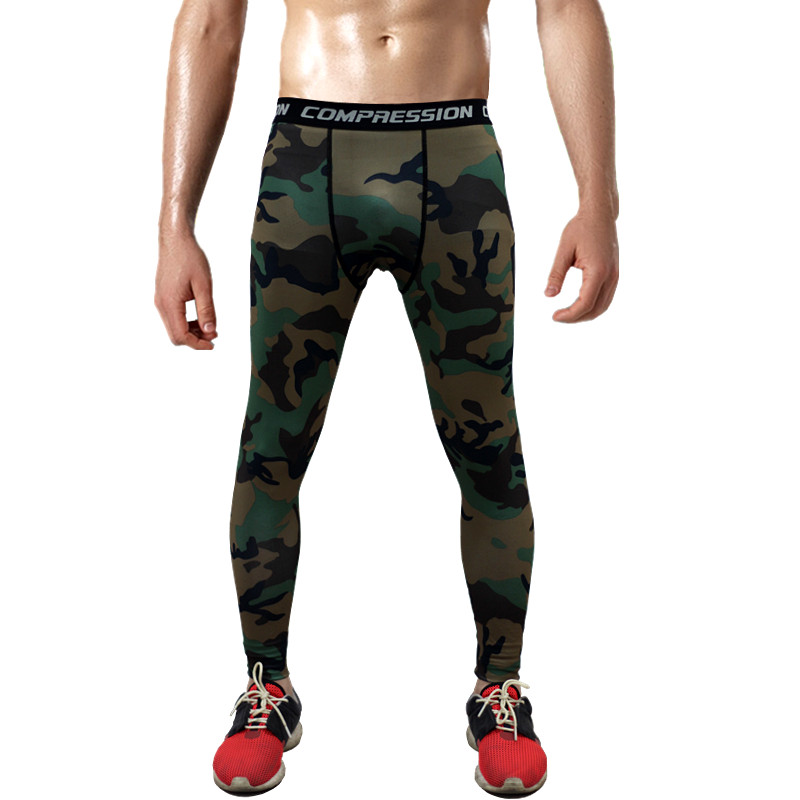 mens compression pants new crossfit tights men bodybuilding pants trousers camou ebay. Black Bedroom Furniture Sets. Home Design Ideas