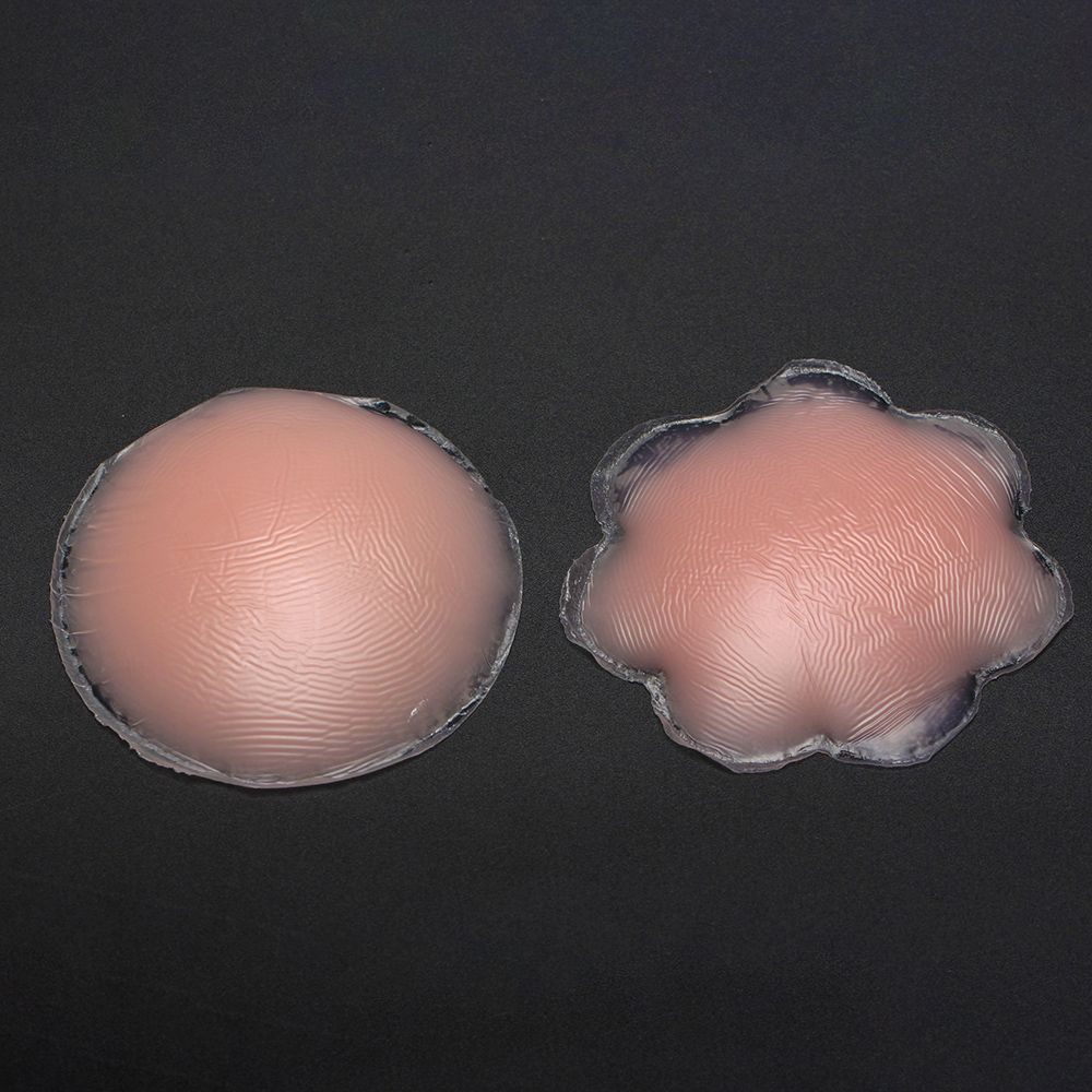 1 Pair Women Fresh Reusable Self Adhesive Bra Silicone Breast Petal Sexy Nipple Cover Pads Pasties Bra Accessories