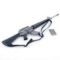 1/6 스케일 플라스틱 미국 폭행 소총 총 M16A1 군사 액션 피겨 군인 장난감