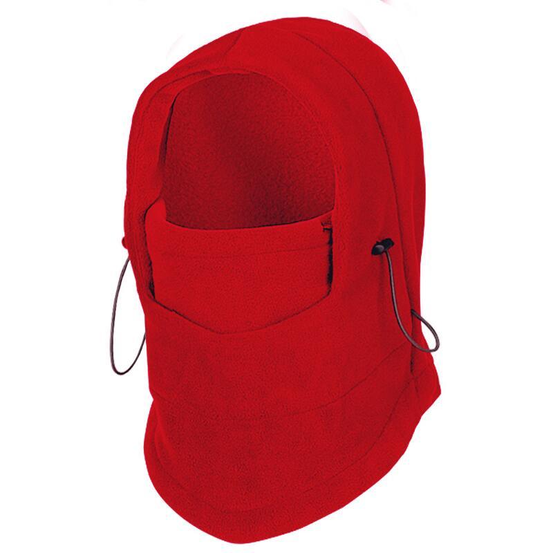 SUOGRY Thermal Fleece Balaclava Hat Hooded Neck Warmer Winter Sports Face Mask for Men Bike Helmet Beanies Masked cap 1