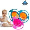 2017 Nova Chegada Hot Sale Crianças Kid Baby Toy Universal 360 Girar Spill-Proof da Bacia Pratos Frete Grátis 3 cor