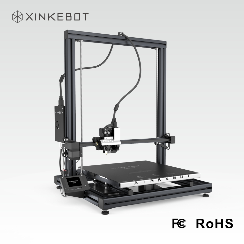 2017 XINKEBOT Large 3D Printer the Orca2 Cygnus with Choice Metal Frames and 1kg Filament as a Freebie