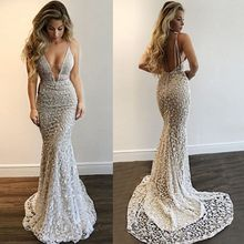 Lisong Sexy Mermaid Dresses 2018 Floor Length Prom Dresses