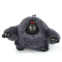 Luxury Christmas Gift Real Rabbit Fur Keychain animal orangutan bag Pendant gift car pendant accessories key rings Present