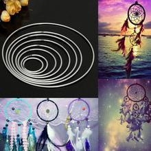 1 шт., металлическое круглое кольцо Ловец снов для рукоделия, ручное плетение, рукоделие, прочный ручной работы, обруч Ловец снов, материал, аксессуары#25