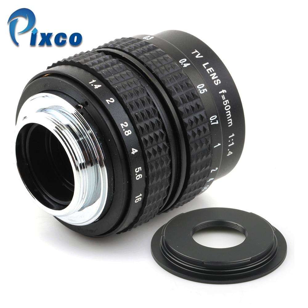 50mm f1.4 C monture + C-Micro M4/3/NEX/N1/pour Pentax q/Fuji/M M2 Bague D'adaptation Pour Sony Photo Pentax