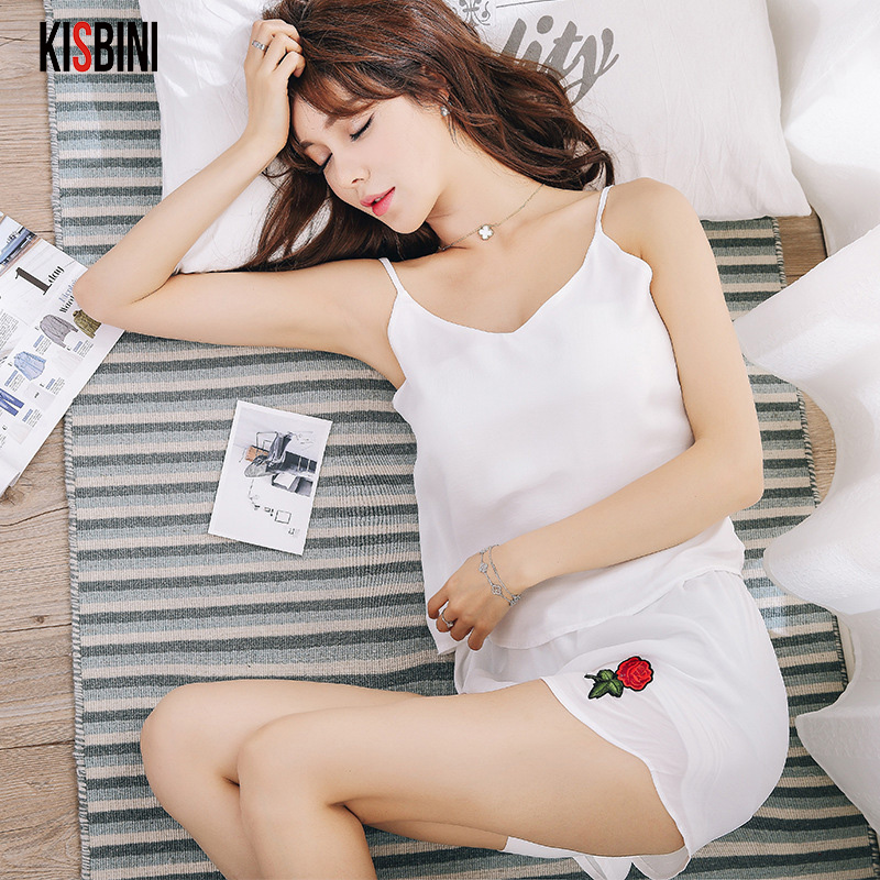 Women Pajamas Sets Sexy Pyjama Set Nightsuit Bathrobe Women Sleepwear Shorts Pijamas Hom ...