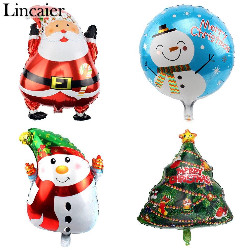Lincaier Christmas Balloons Decorations for Home Tree Santa Claus Xmas Snowman Ornaments Supplies 2017