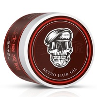 Strong Style Restoring Pomade Hair Wax Skeleton Cream Slicked Oil Keep Hair Men Styling Products EE5