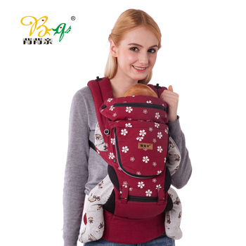 Back Pro- Cotton Multifunctional Children Baby Sling Backpack Before Holding With Your Style