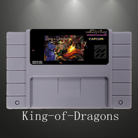 The King of Dragons 16 Bit Gray Game Card For USA NTSC Game Player