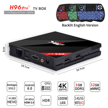 H96 PRO + TV Box Amlogic S912 Octa Core Android 6.0/7.1 inteligente tv 3 GB y 32 GB 2.4G y 5.8G Dual WIFI HDMI 2.0 H.265 4 K Reproductor Multimedia