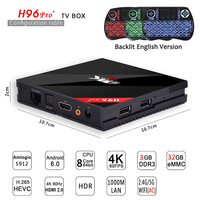 Newest H96 PRO TV Box Amlogic S912 Octa Core Android 6 0 Smart Tv 3GB 32GB