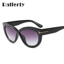 10c5a4cc52f63 Ralferty 2018 Trendy Sunglasses Women Designer Big Sun Glasses UV400 Black  Vintage Shades gozluk lunette de soleil femme F92145