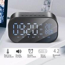 6402a87b65bb Q9 Bluetooth Динамик светодио дный будильник с FM радио AUX TF Портативный  Беспроводной Динамик открытый музыкальный