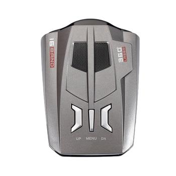 V9 Car Radar Detector 360 Degrees 16 Band LED Display Russia / English Voice Alert Warning Anti Radar Detectors