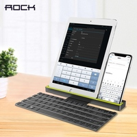 Foldable Bluetooth Keyboard For IPad Pro Mini Air ROCK Multi Function Rollable Bluetooth Keyboard For IPhone