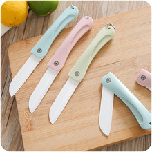 цена на 1PC Ceramic Knife Kitchen Knives with Peeler Chef Paring Fruit Vegetable Utility Slicer Knife White Blade Cooking Set