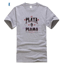 be3397f9d Camiseta hombre Colombian deal Plata O Plomo T shirts Men Pablo Escobar T-shirt  Drug