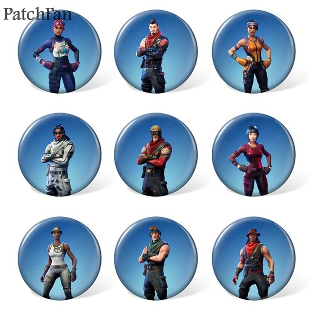 10sets/lot Patchfan game 9pcs/set Pins backpack clothes brooches for men women diy  hat clothes decoration badge medal A1133 3