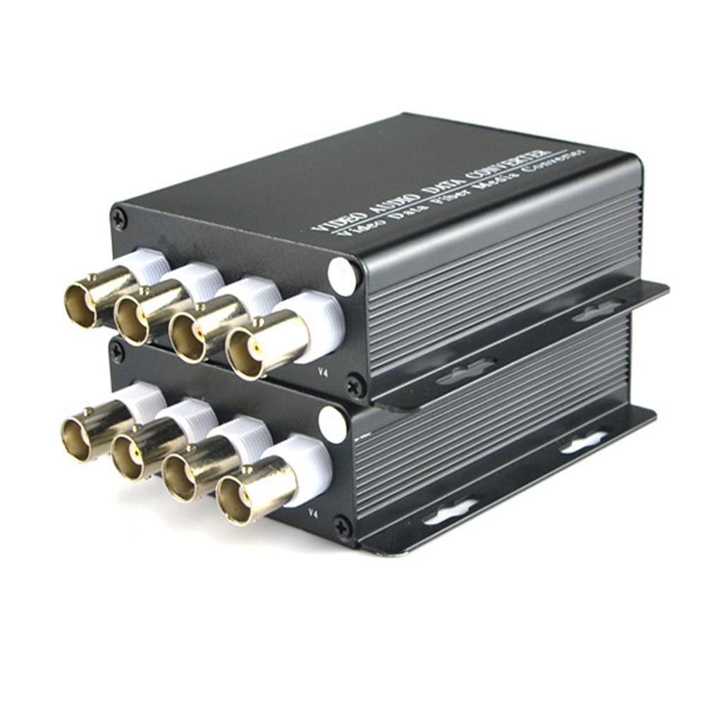 4 Channel Digital Video Optical Fiber Media Converters Transmitter Receiver For CCTV Cameras Security system