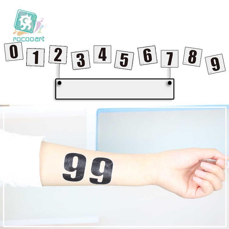 2018 avrupa kupası futbol hayranları alfabe numarası dövme tasarım geçici dövme etiket su geçirmez el yüz spor oyunları dövme.