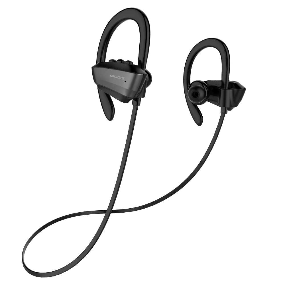 IPUDIS IPX7 wodoodporny bezprzewodowy zestaw słuchawkowy słuchawki stereo Bluetooth słuchawki sportowe zaczep na ucho z mikrofonem