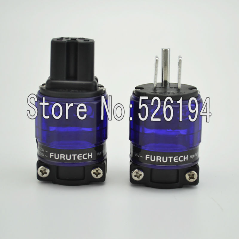 Free shipping one pair  FI-11M-N1R Rhodium Plated US AC Power Plug  HI END free shipping one pair sonar quest carbon fiber series eu gold plated power plug connector