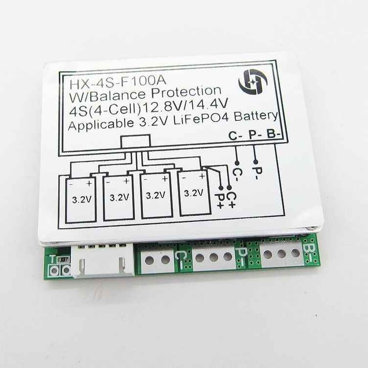 4S 12.8V 100A WITH Balance 3.2V LiFePo4 Lithium iron phosphate LiFe Battery Cell PCB BMS Protection Board
