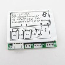 Carte de Protection BMS, 4s, 12.8V, 100a, équilibre 3.2V, LiFePo4, Lithium, fer, phosphate, batterie, circuit imprimé