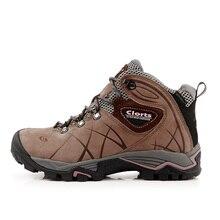 2016 Clorts Треккинговые ботинки для женщин HKM-802B натуральная кожа Водонепроницаемый туристические Сапоги и ботинки женские резиновые спортивные Кроссовки