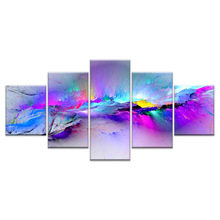 Wall Pictures For Living Room Abstract Canvas Painting Clouds Colorful  Art Home Decor Artwork