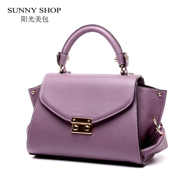 ФОТО SUNNY SHOP  Brand Designer  Genuine Leather Women Bags Fashion Real Leather Luxury Handbags Women Bags Designer Shoulder Bags