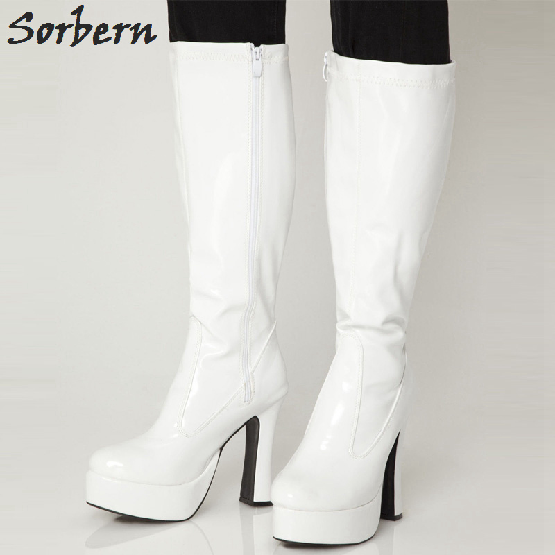 Orteil Sorbern Femme green Ronde Cm pe gold High Chaussures Shiny Red blue wine Shiny Sexy Femmes yellow forme white Mode Shiny Boot Shiny sky Matt silver Shiny 2018 Shiny Knee 12 red Shiny violet Glissière Chunky Plate purple Shiny Gogo Blue pink 4 Shiny Talon Color orange Shiny Shiny Shiny Shiny custom Bottes Black Shiny black rqUwrRA