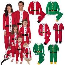 Family Christmas Santa Claus PJS Pajamas Outfit