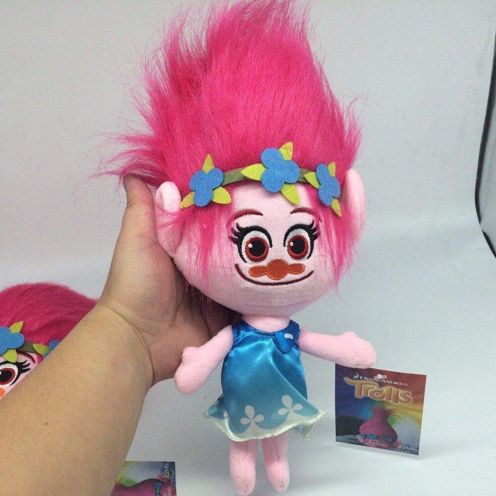ФОТО 10pcs/set 30cm DREAMWORKS Trolls Doll Poppy DJ Suki Guy Diamond Cooper Branch Critter Skitte PLush Toys