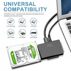 Image 3 - QGeeM SATA to USB 3.0 IDE Adapter USB2.0 Sata Cable for 2.5 3.5 SATA IDE Hard Disk Drive Adapter USB C OTG HDD SSD USB Converter