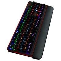 USB wired waterproof mechanical keyboard Metoo 104 key 12 light color keyboard switch blue Russian flat office sticker