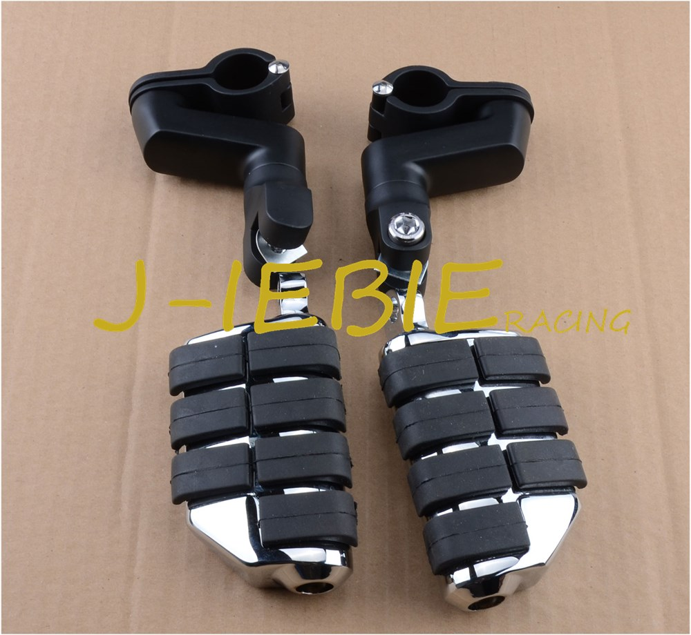 Black Front Foot Rest Foot Pegs For Honda VT750 Shadow 750 VT750C ACE motorcycle 16 5 cm saddle bag support bar mount bracket for honda shadow ace vt vt400 vt750