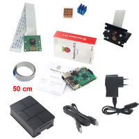 Raspberry Pi 3 Camera Kit Raspberry Pi 3 5MP Camera Holder Power Supply USB Cable ABS